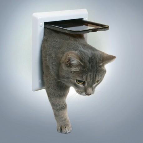 Trixie Freecat Classic Bianca Porta Basculante per gatto a 2 funzioni cod. 38601