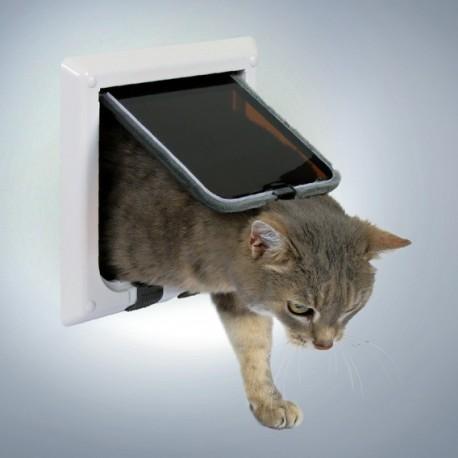 Trixie Freecat Classic Bianca Porta Basculante per Gatto a 4 Funzioni Cod.38621