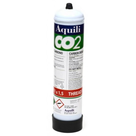 Aquili Bombola CO2 Usa e Getta 500gr passo 11x1,5