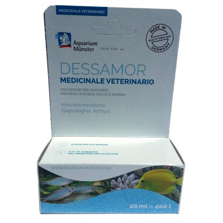 Aquarium Munster Dessamor 20 ml medicinale per funghi ed infezioni per pesci