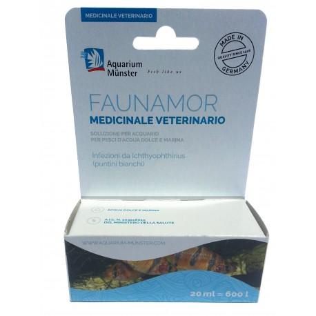 Aquarium Munster Faunamor 20ml medicinale veterinario per puntini bianchi per pesci