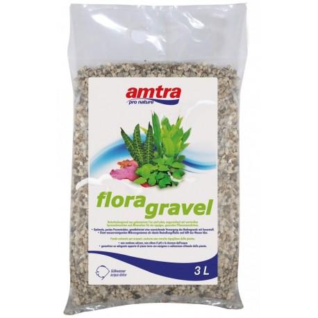Amtra Flora Gravel 3 lt 2,2kg Terriccio d'argilla per acquario