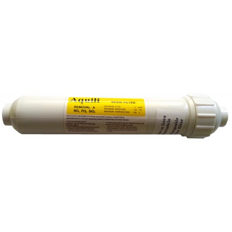 Cartuccia ricaricabile resina NO3 PO4 SiO2 per impianto osmosi Aquili