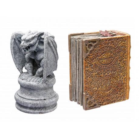 Hydor H2show Magic World Gargoyle con libro