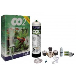 Aquili Impianto CO2 Professional con 2 Manometri per Acquario