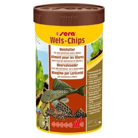 Sera Wels Chips 250ml 95 gr per Pesci Pulitori Acquario