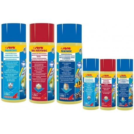 Sera Set Acqua Pulita 3 pezzi per acquario nitrivec + aquatan+ toxivec