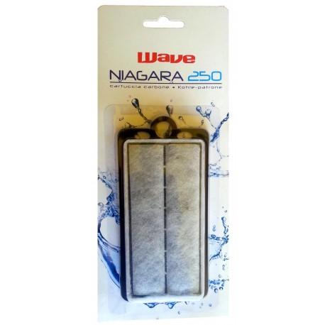 Wave Ricambio cartuccia Carbone filtro Niagara 250 per acquario