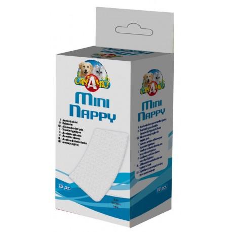 Croci Assorbenti Adesivi Mini Nappy 15pz 6,5 x 12 cm per Cane