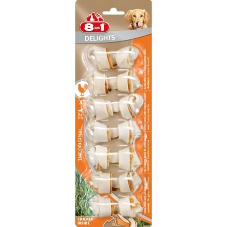 8in1 Delights Ossi XS 7 pezzi 84 gr masticabili con pollo per cane