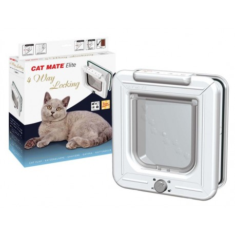 Gattaiola Cat Mate 307 elite 4 vie locking porta basculante per gatto