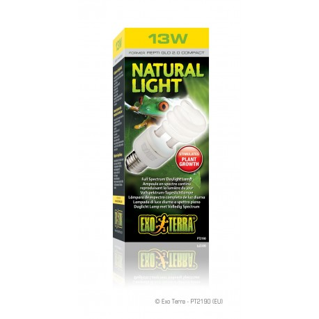 Exo Terra Natural Light 13 watt Lampada diurna per Terrario PT2190