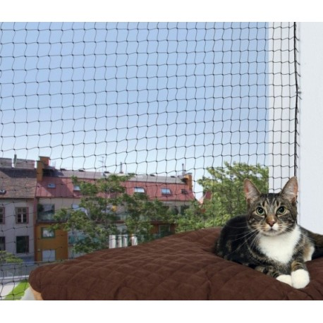 Trixie Rete di sicurezza per Balconi per Gatti 3 x 2 mt Colore Nero ART.44311