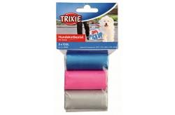Trixie sacchetti igienici con manici 3 rotoli da 15 pezzi per cane cod. 22845
