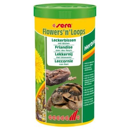 Sera Flowers'n'Loops 1000 ml 140g leccornie con fiori per tartarughe di terra