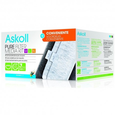 Askoll Pure Filter Media Kit M L XL Formato Conveniente