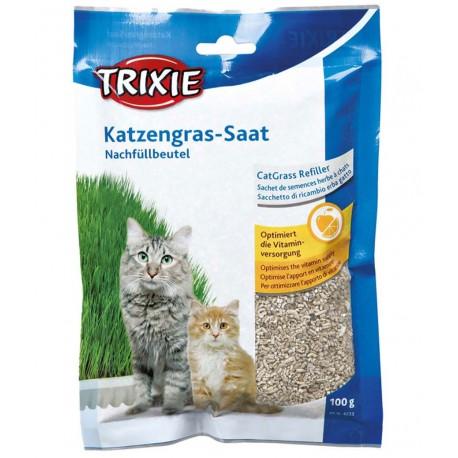 Trixie Ricambio erba gatto soffice per gatti 100g