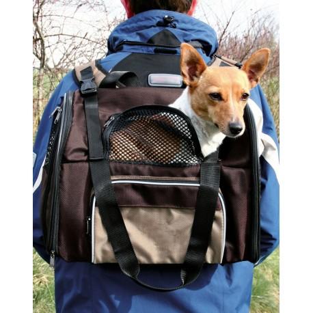 Trixie Zaino Shiva per cane e gatto fino a 8 kg colore marrone beige