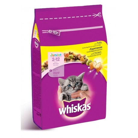 Whiskas Junior 950g al pollo croccantini per gatto