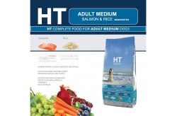 HT Dog Medium Adult Salmone e Riso 12,5 Kg Crocchette per Cani