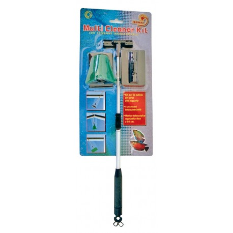 Amtra Multi Cleaner Kit accessori per pulizia vetro acquario