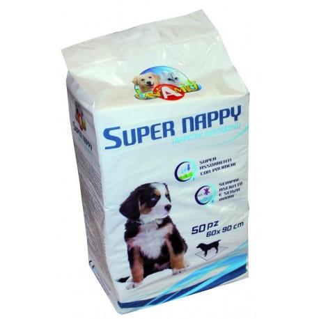 CaniAmici Tappetini assorbenti Super Nappy 60 x90 cm 50 pezzi