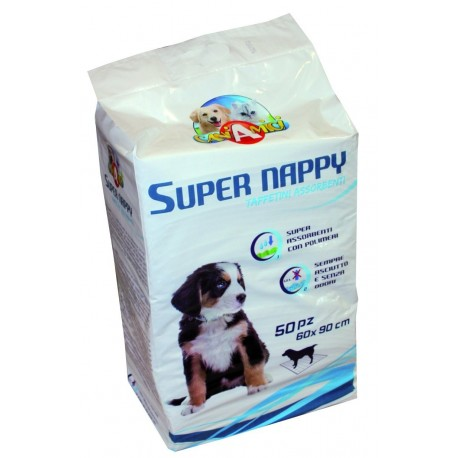Tappetini assorbenti Super Nappy 60 x90 cm 50 pezzi