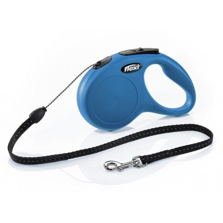 Flexi Guinzaglio con Corda Avvolgibile M Blu per Cane fino a 20 Kg
