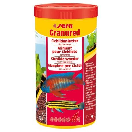 Sera Granured 1000 ml 565g Mangime in granuli per Ciclidi Pesci