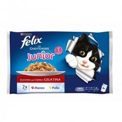 Felix Le Ghiottonerie Junior 4 x 100 gr Cibo Umido per Gattino